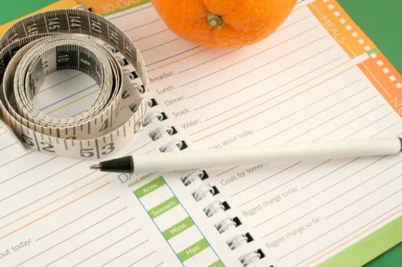 Keeping a food diary can help with planning a healthy regime